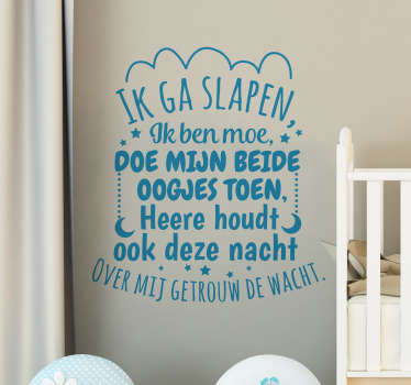 Decorate the bedroom space for children in our original nursery rhyme text design available in different customisable colours and size options.