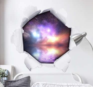 Personalisiertes 3D Wandtattoo Loch in Papierwand