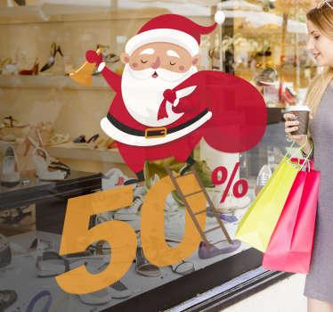 Sticker affiche Père Noël soldes