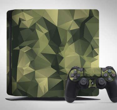 Vinil adesivo para PS4 camuflagem
