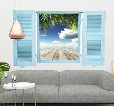 Naklejka na ścianę okno 3D z widokiem