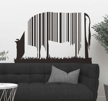 Vinilo vaca código de barras