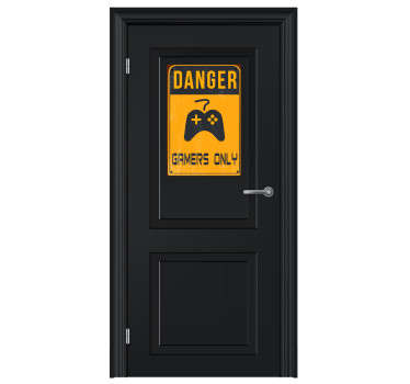 Gamers only! A fantastic wall sticker; ideal for those gaming fanatics! Put it on your door to really keep visitors out!