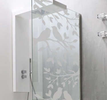 Birds Translucent Shower Sticker