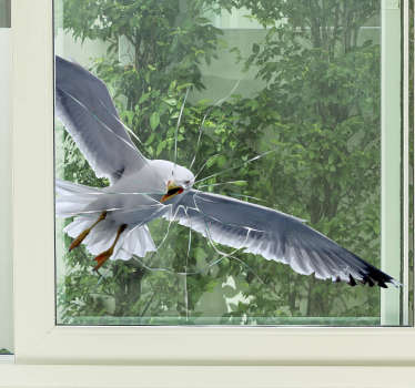Autocolante para janela pássaro 3D