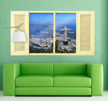A magnificent wall sticker for lovers of a good view!