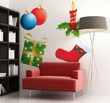 A wonderful collection of stickers for Christmas. Brilliant wall decals to decorate your home and get into the Christmassy mood.