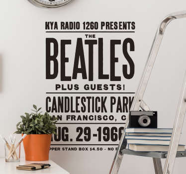 It can be a Beatles concert every day in your house with this amazing poster! Discounts available. High quality vinyl used.