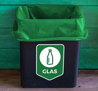 Show that you take recycling seriously with this icon vinyl sticker! The sticker show which type of trash can be recycled here: glass!