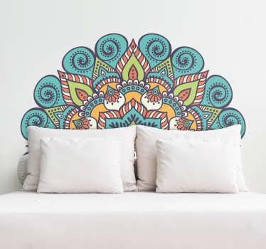 Mandala hovedgavl væg klistermærke