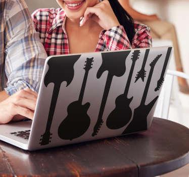 Naklejka na laptopa z gitarą elektryczną