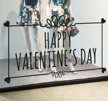 Prilagodljiva valentinova dnevna okna nalepka