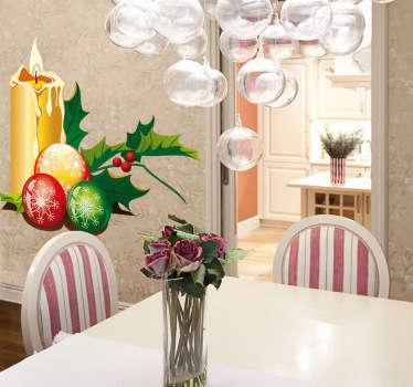 Naklejka dekoracyjna stroik świąteczny
