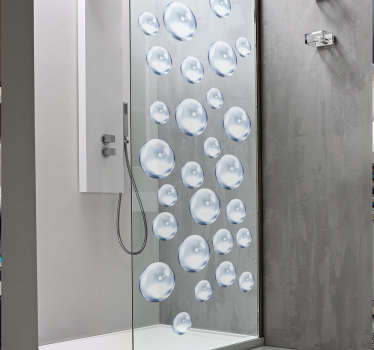 Decorate your shower with an elegant and modern water bubble sticker. Add a personal touch to the bathroom with our stylish bathroom decals.