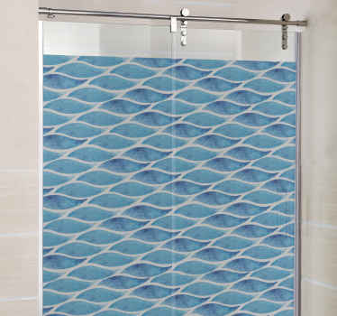 Water Waves Shower Sticker