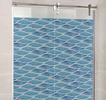 Douchedeur sticker vissen badkamer