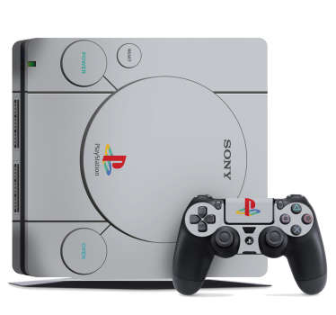 PS1 Retro PS4 Console Sticker