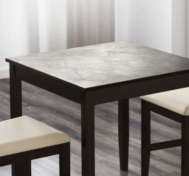 Vinyl marble effect sticker for applying to your table, perfect for creating a sleek and professional look for your kitchen, dining room, living room and more cheaply and easily. Simple but effective design is sure to make the room look more aesthetically pleasing immediately.
