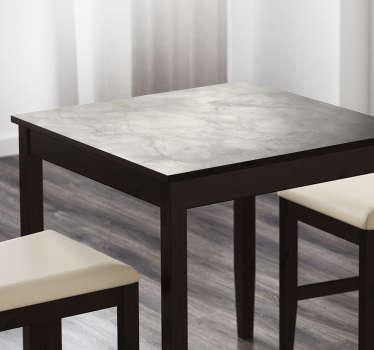 Vinilo para mueble mesa efecto mármol