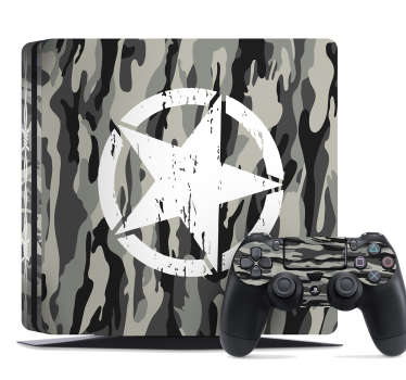 PS4 sticker camouflage print