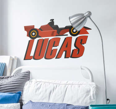 Personalised F1 Car Wall Sticker