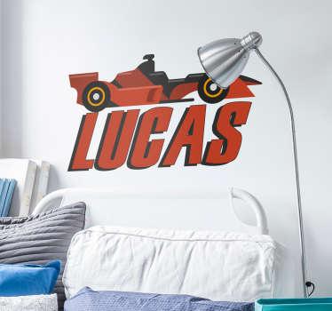 Personalised F1 Car Wall Sticker