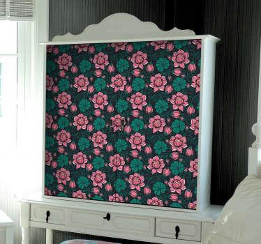 Sticker per mobili tema floreale