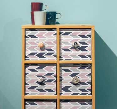 Carta adesiva mobili effetto geometrico