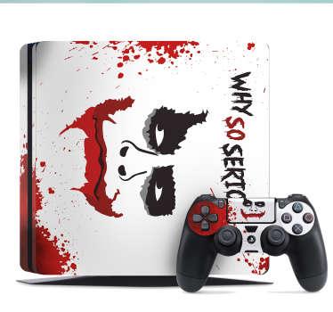 PS4 sticker Joker face eng