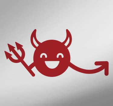 Wandtattoo lachender Teufel