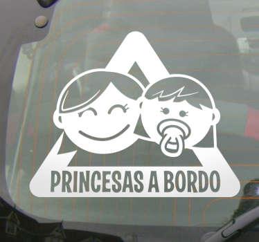 Adhesivo coche niñas a bordo