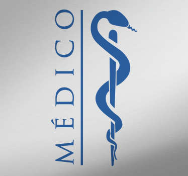 Medical icon wall sticker for office and  health centers. It is customisable in any of the colours and size we have. Easy to apply and adhesive.