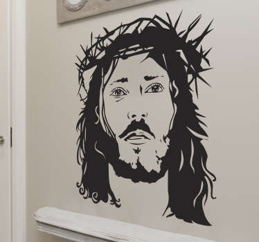 Ansigt af jesus klistermærke