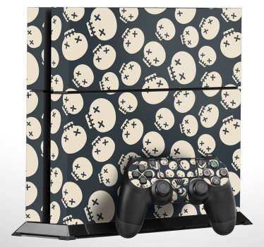 PS4 Aufkleber Muster Totenköpfe
