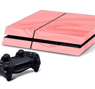PS4 Skin rosa Maserung