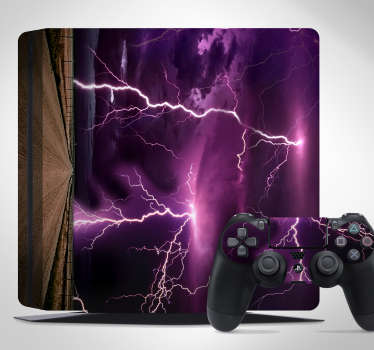 Vinilo para PS4 tormenta rayos