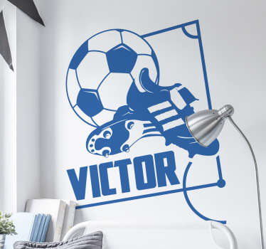 Vinil parede botas de futebol personalizadas