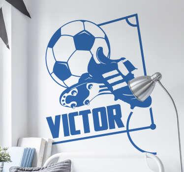 Wall decal fodbold sko navn