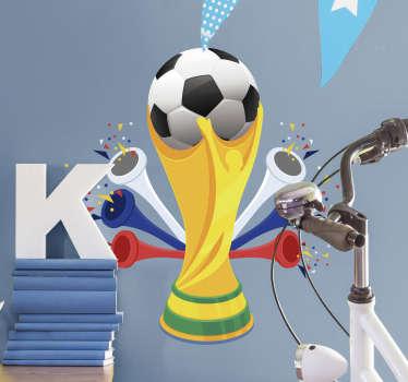 Adesivo coppa del mondo pallone