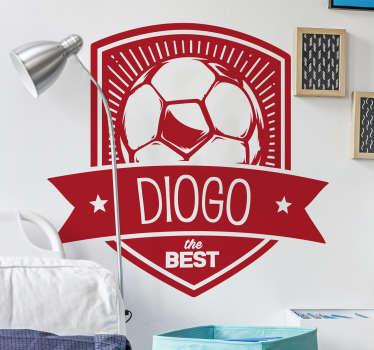 Personalisierter Aufkleber Fußball Wappen
