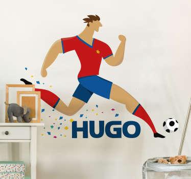 Footballer Customisable Wall sticker