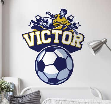 Vinil parede infantil futebolista personalizada