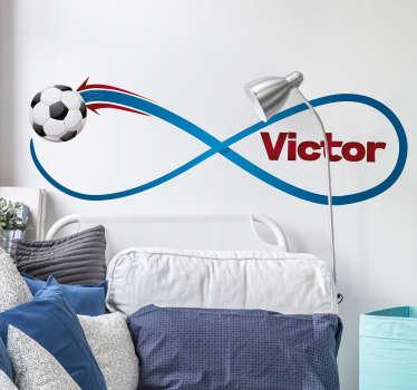 Muursticker infinity voetbal naam