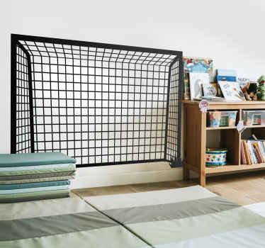 Kinderkamer muursticker voetbaldoel