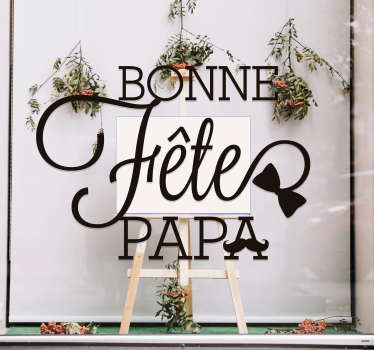 Father's day window sticker decorate for store front. You can buy is in any one of the colours ans sizes available. Easy to apply.