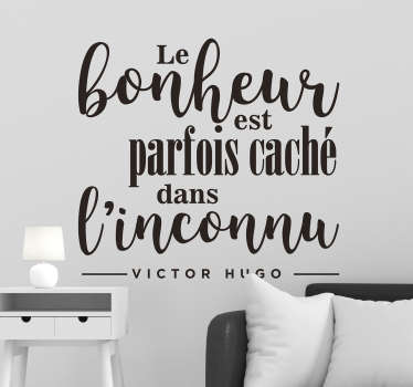 Sticker citation Victor Hugo bonheur