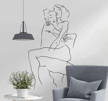 Adesivo murale camera da letto sagoma amore