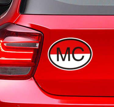 Sticker voiture Monaco drapeau