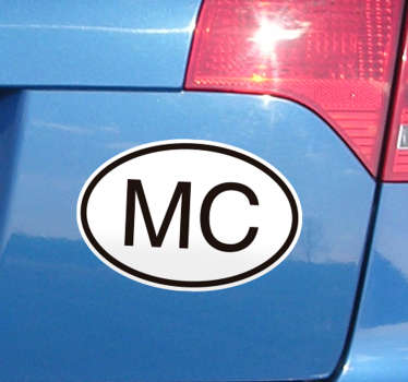 Fantastic car sticker with Monaco initials to decorate your car in an original and distinctive way. Discounts available.