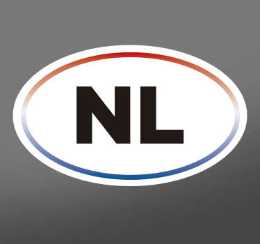 A decorative Netherlands text car sticker. It is available in any size you want. Easy to apply, adhesive and very durable.